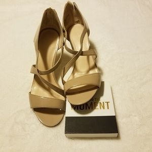 Nearly nude! Nine west strappy sandal